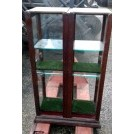 Medium wood glass display cabinet