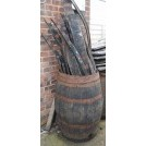 Open barrel with wood staves