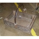 Wood tool box with iron handle