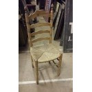 Ladder back straw seat chair