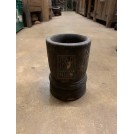 Wide Dark Wooden Beaker