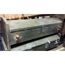 Long grey wood coffer chest