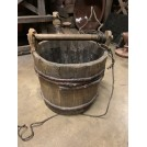 Wooden Handle Reed Bound Bucket