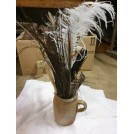 Wooden Pot of Feather Quills