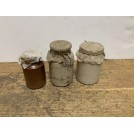Small Cloth Top Ceramic Jar