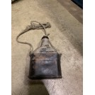 String Wrapped Bottle in Leather Carry