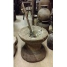 Large carved mortar & pestle