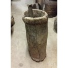 Large rough wood mortar & pestle