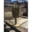 Brass Goblet With Ornate Stem