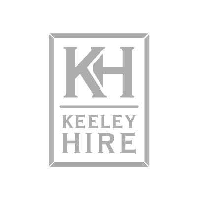 Painted wood slatted wheelbarrow