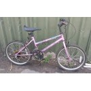 Girls pink modern bicycle