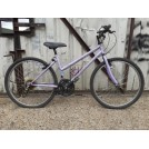 Modern ladies purple bicycle