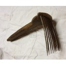 Carding comb with long handle