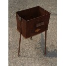 Iron square brazier