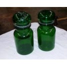 Green glass chemist bottle