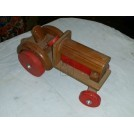 Toy wood tractor