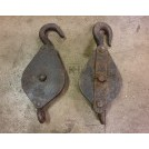 Shaped iron pulley with hook