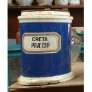 Blue china apothecary jar