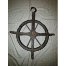 Iron pulley wheel with hook