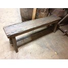 Plain rough wood bench