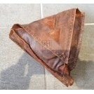 Triangular leather pouch