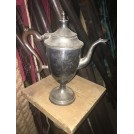 Silver Tea Jug With Copper Handle