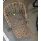 Wicker child seat with straps