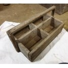 Wood tool box in sections