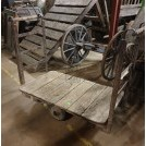 Flat bed trolley with handles