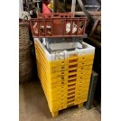 Large yellow plastic crate