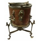 Low ornate copper burner