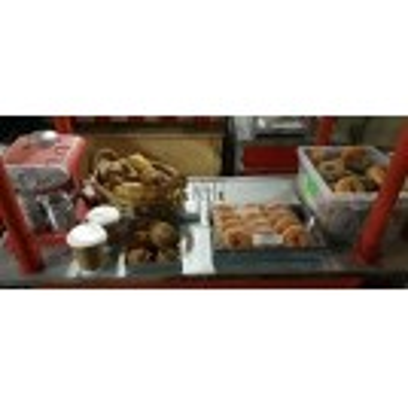 Bagel stall dressing for cart