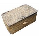 Small rattan basket with lid
