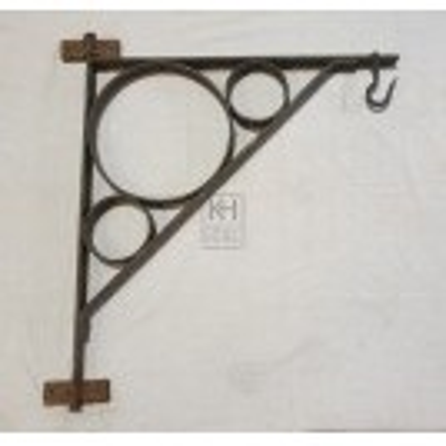 Large iron bracket with rings