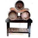 Triple Barrel Table Stand with 3 Barrels