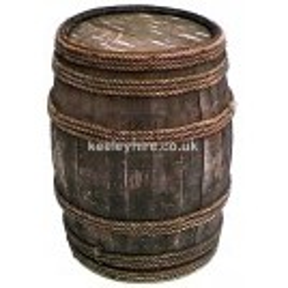 Rope bound wood barrel