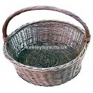 Shallow wicker hand basket