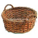 Short 2-handle wicker basket