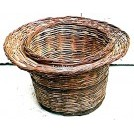 Round wicker basket