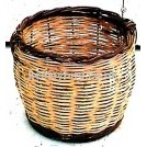 Round woven bamboo basket