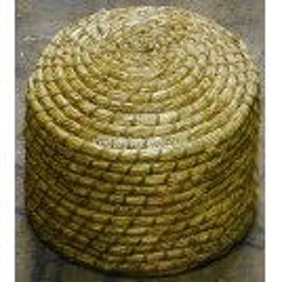 Straw bee hive basket