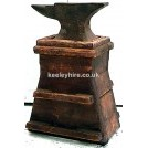 Blacksmiths Anvil On Wood Stand