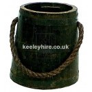 Dark Iron Bound Bucket with Rope Handle