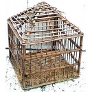 Square Cage with Pitched Top