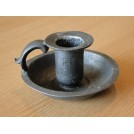 Small Bedside Pewter Candleholder
