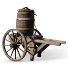 Hand Cart With Upright Barrel