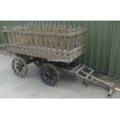 4-wheel slatted hay cart with T-handle