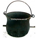 Iron cauldron with handle
