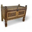 Gold Painted Carved Chest
