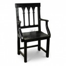 Polished Wood Arm Chair